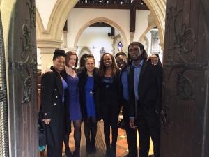 with the CK gospel choir