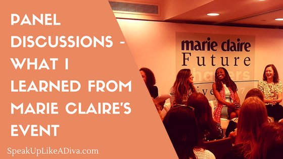 marie claire panel discussions