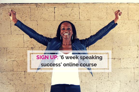 Online public speaker training