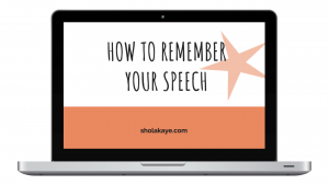 How to remember your speech