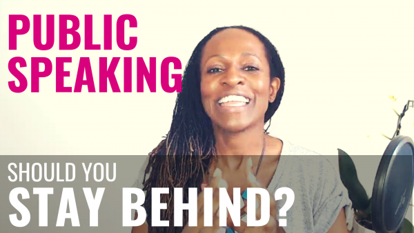 Public Speaking - should you STAY BEHIND