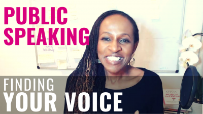Public Speaking - Finding YOUR VOICE
