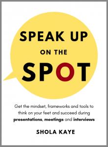 Speak up on the spot cover