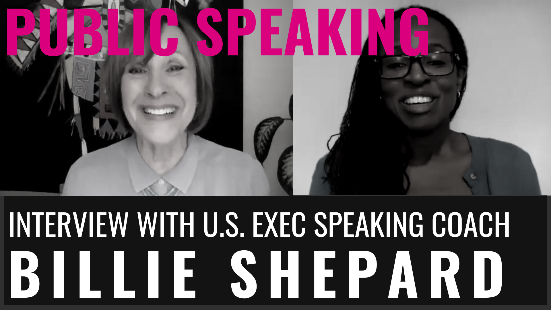 PUBLIC SPEAKING - INTERVIEW WITH US EXEC SPEAKING COACH, BILLIE SHEPARD
