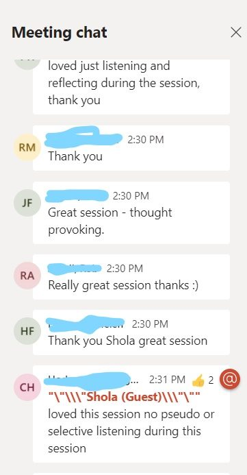 MS Teams chat